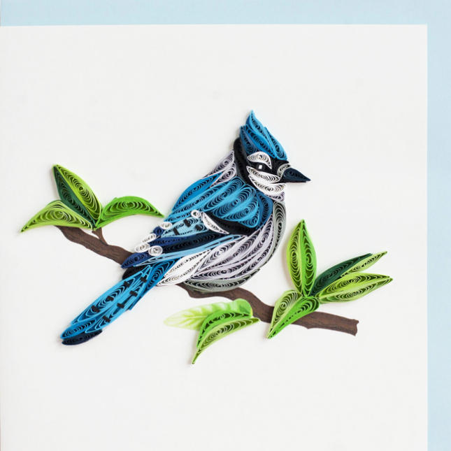 Quilling Blue Jay