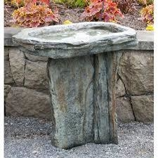cast art slate bird bath